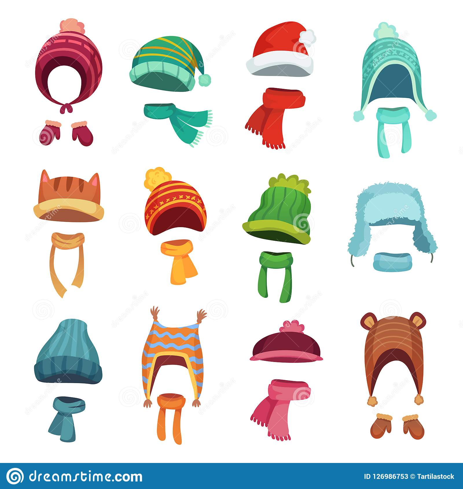 bb2df0d3c1d03 Winter kids hat. Warm childrens hats and scarves. Headwear and accessories  for boys and