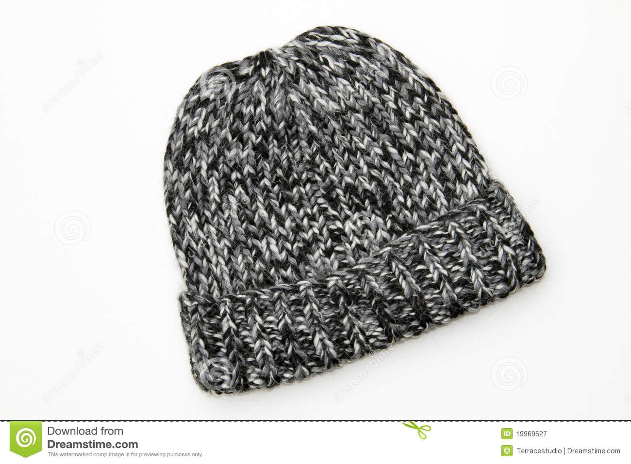 0ef9f72c0f9 Winter Knit Wool Black Gray White Hat Beanie Stock Image - Image of ...