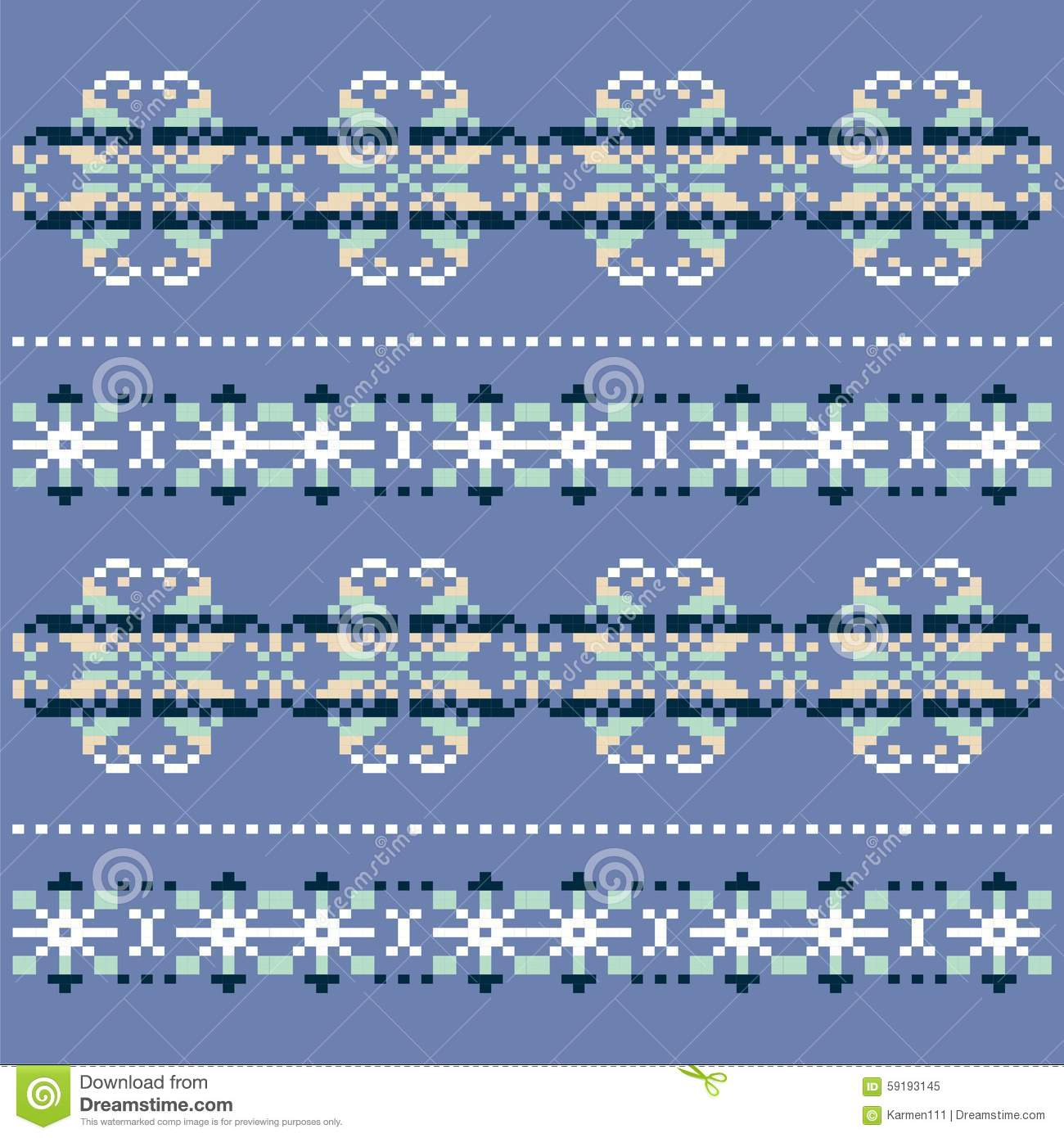 Winter Knitted Blue White Snowflake Pattern. Christmas Sweater ...