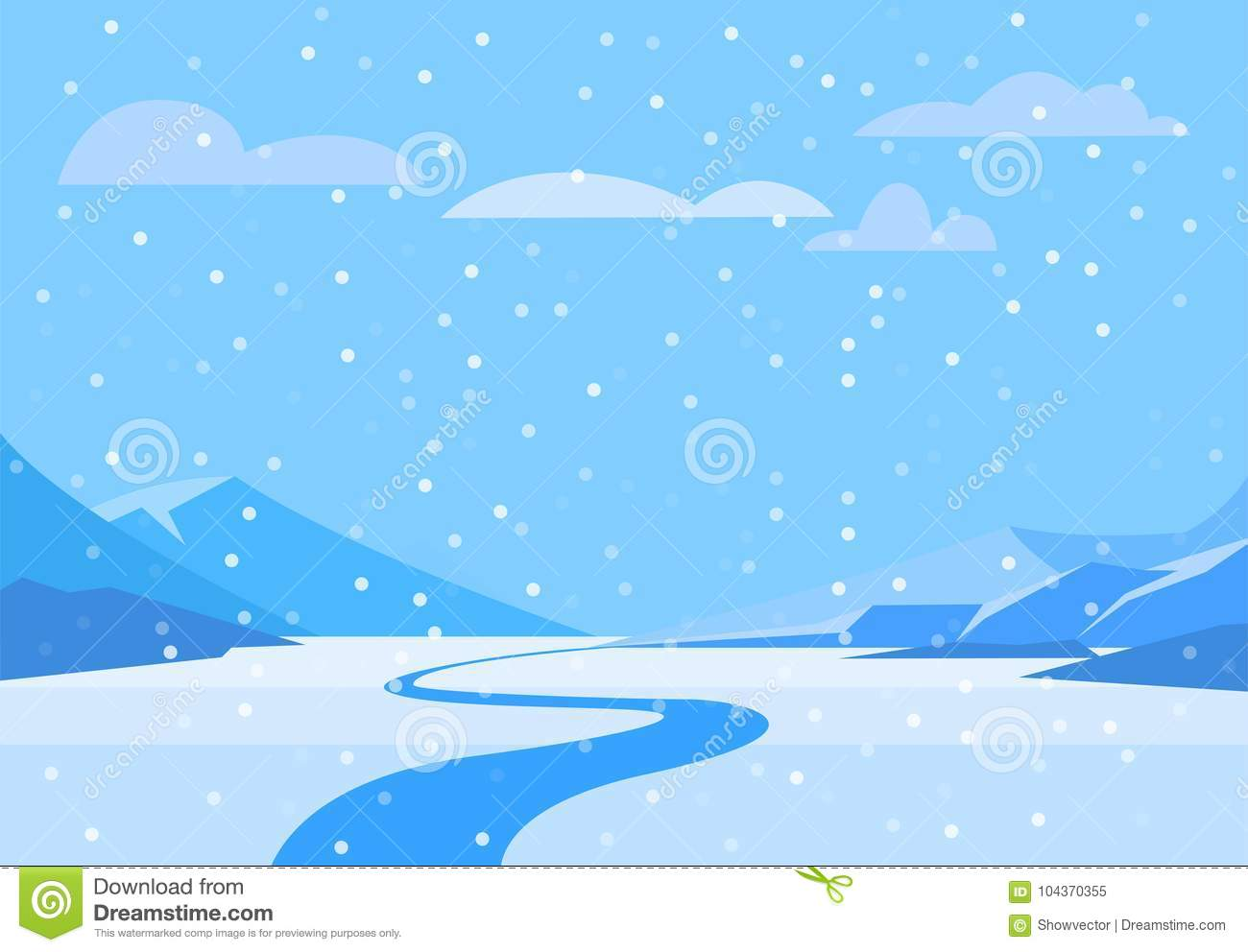 Winter Landscape With Christmas Tree Mountain Frozen Nature Wallpaper