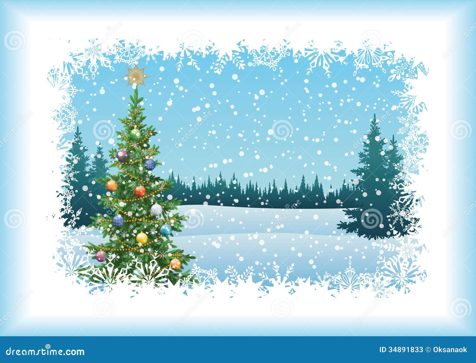 Silhouette Christmas Tree