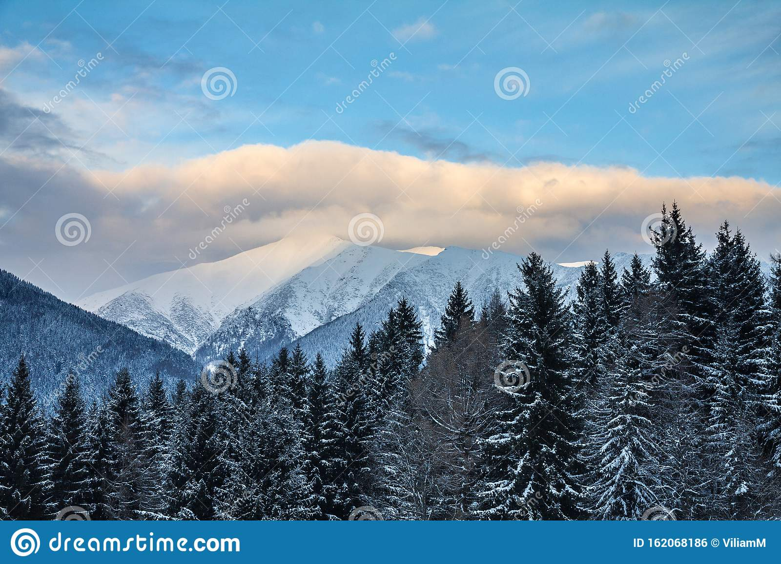 Winter Landscape Covered With Snow In Western Tatras Mountain Stock Photo Image Of Season Outdoor 162068186