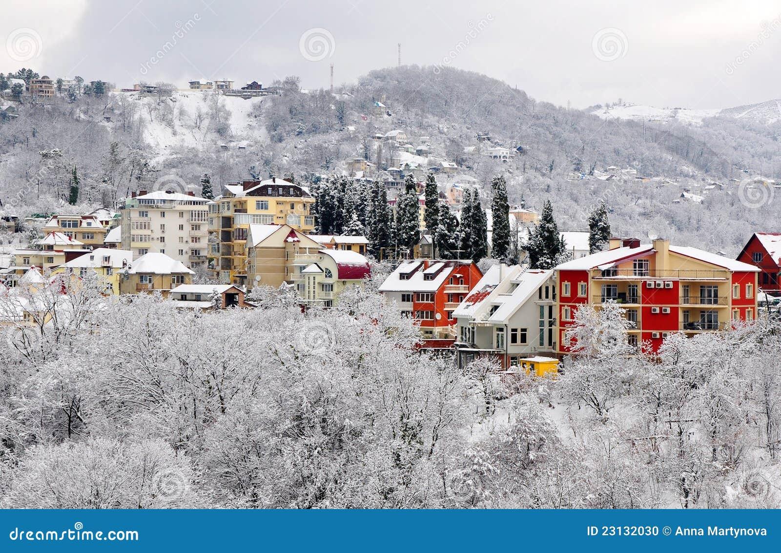 Winter landscape of Sochi