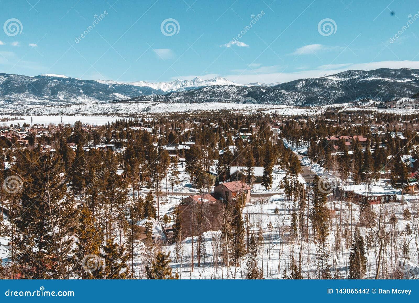 Winter-Landschaft in Colorado