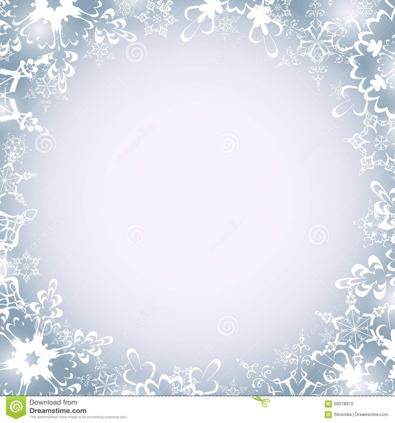 winter luxury round frame with snowflakes stock vector