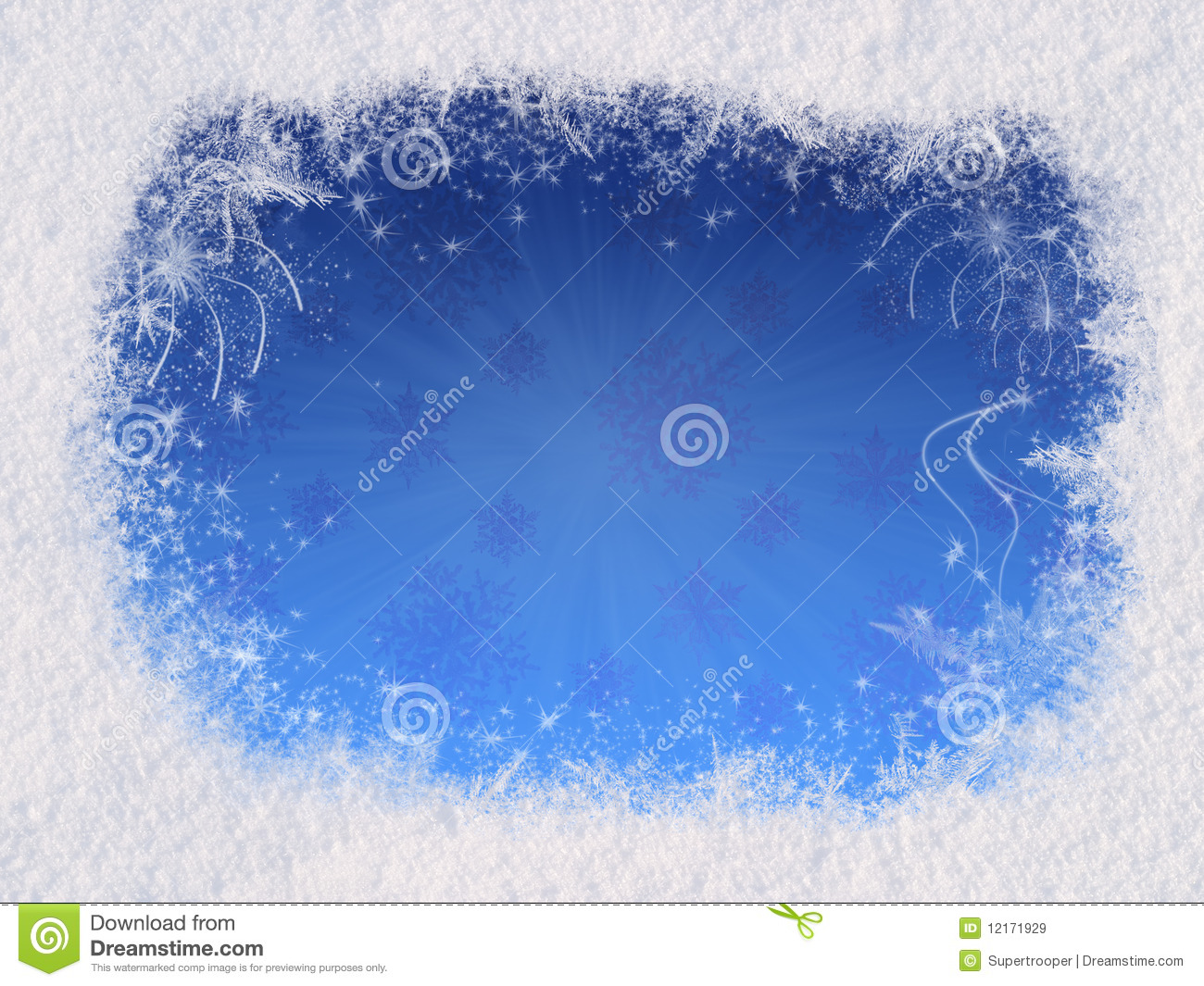 winter magic frame royalty free stock images