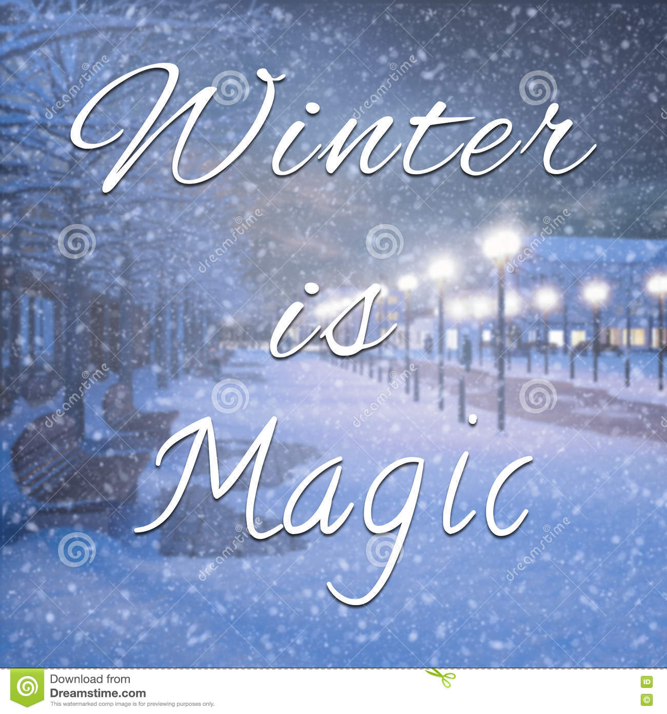Winter Is Magic Inspirational Quote