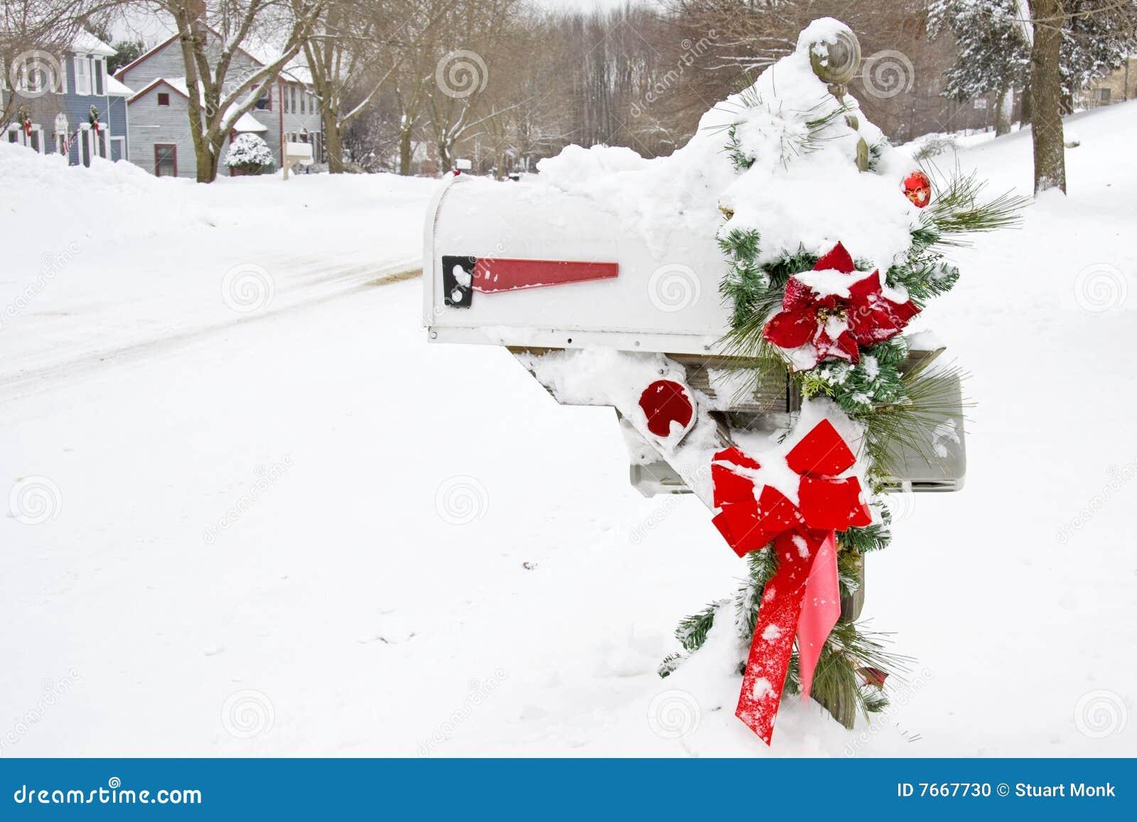 Winter Mailbox Stock Photo Image Of White Season Xmas