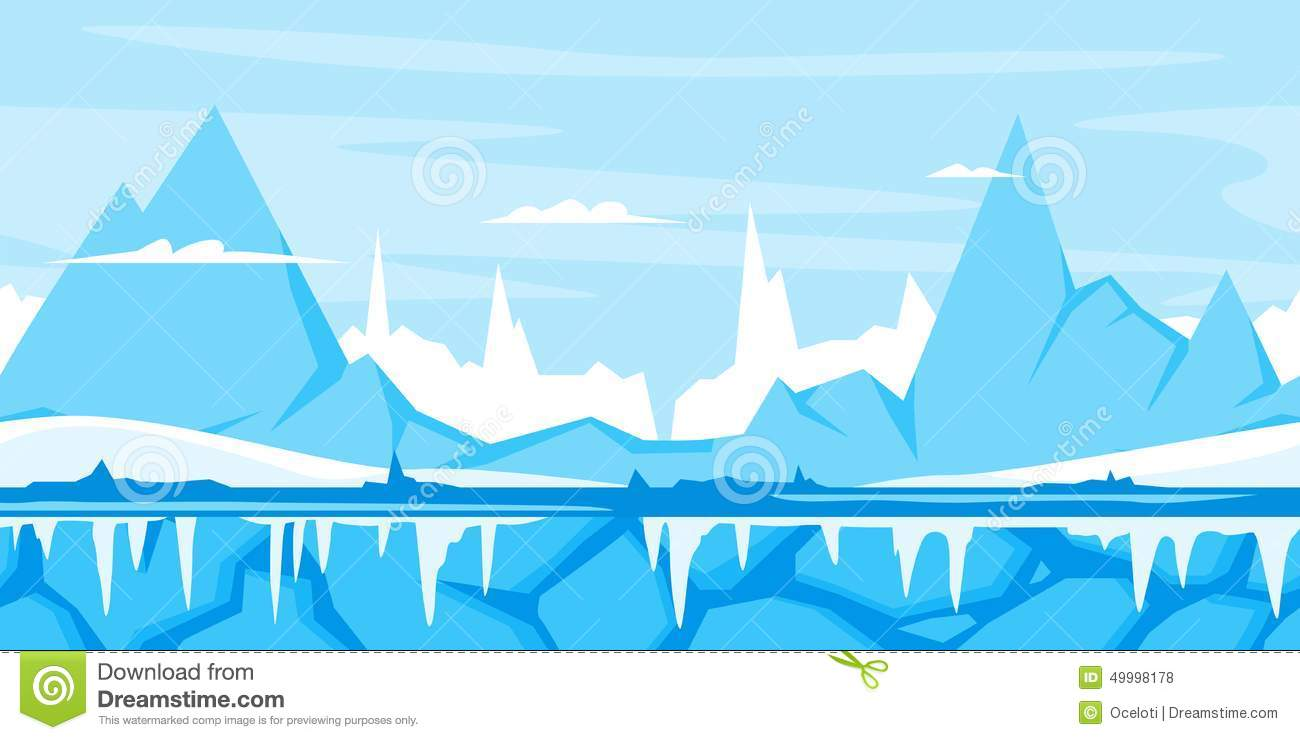 Ice Mountain Clip Art - Royalty Free - GoGraph