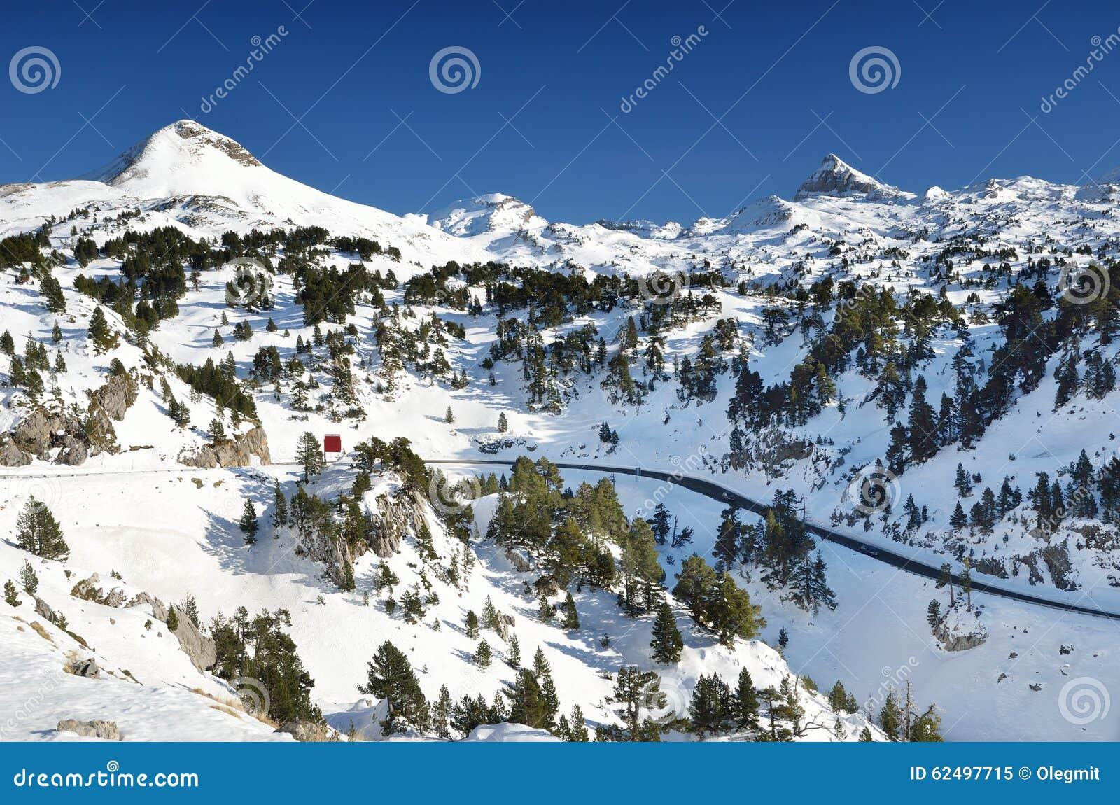 winter mountains near the ski resort pierre saint martin stock image