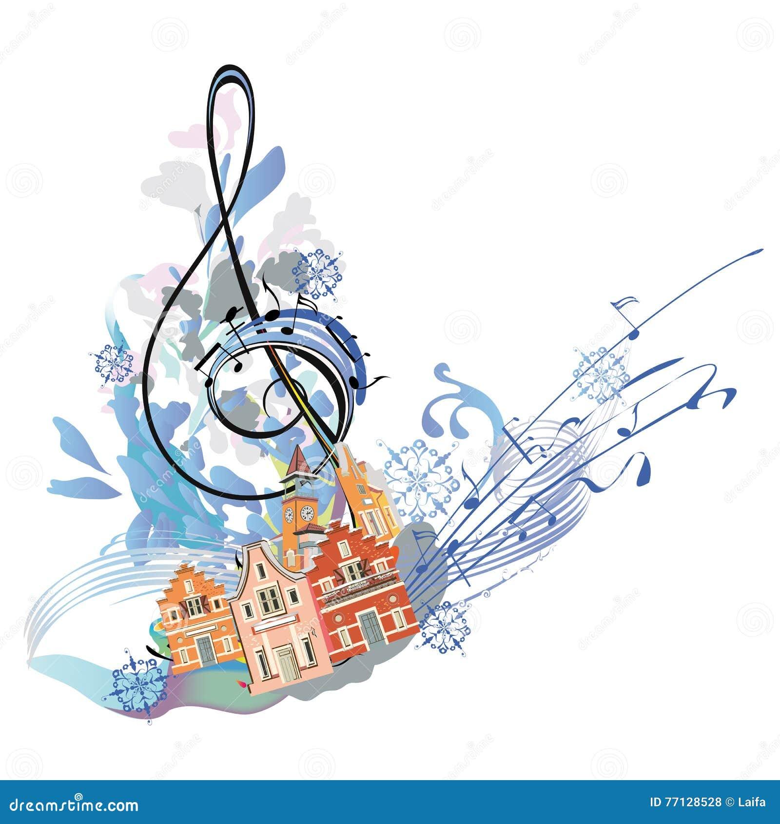 Winter music stock vector illustration of clipart border 77128528 winter music royalty free vector voltagebd Images