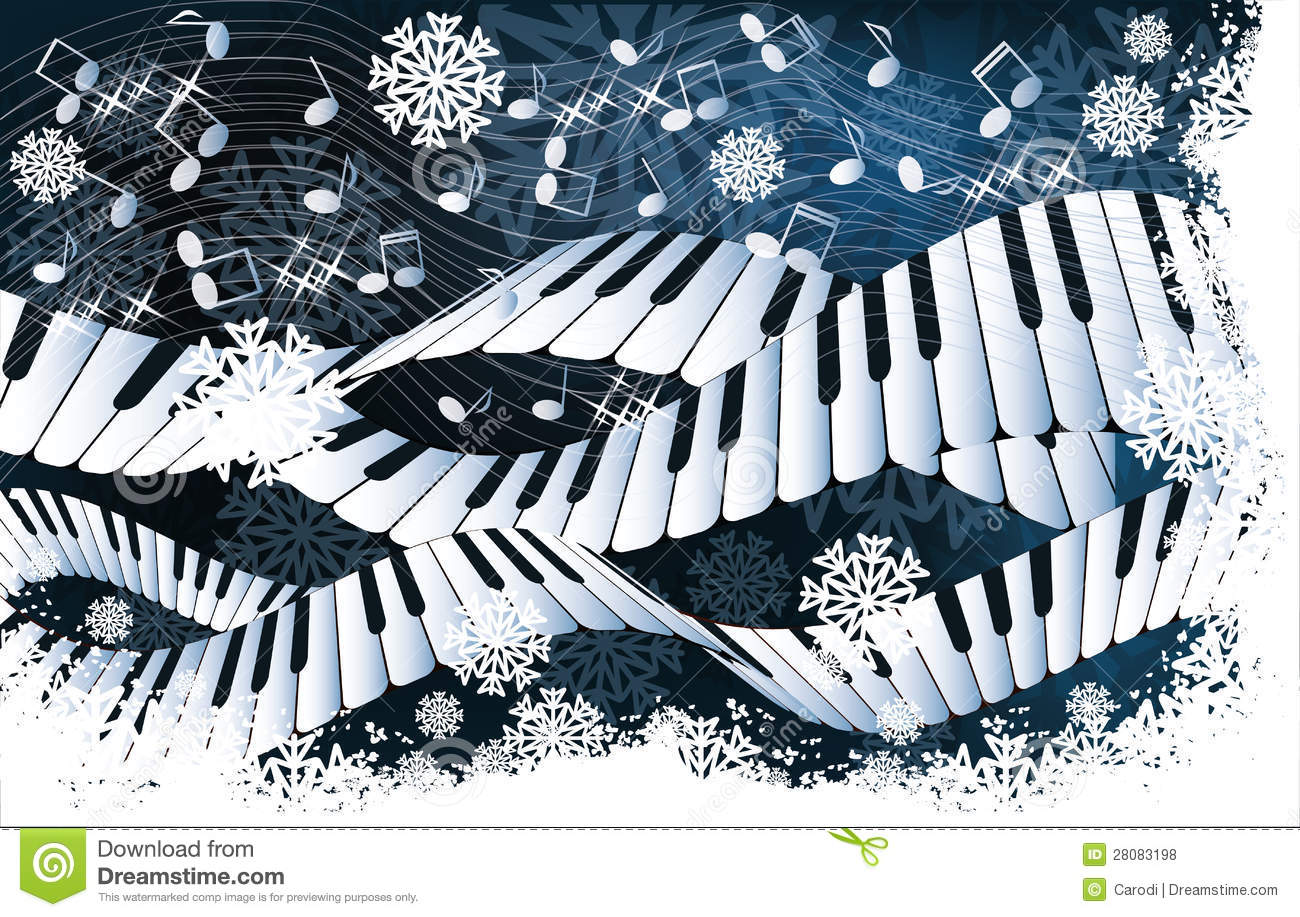 winter music card stock vector illustration of card Blue Snowflake Clip Art Free Free Snowflake Background