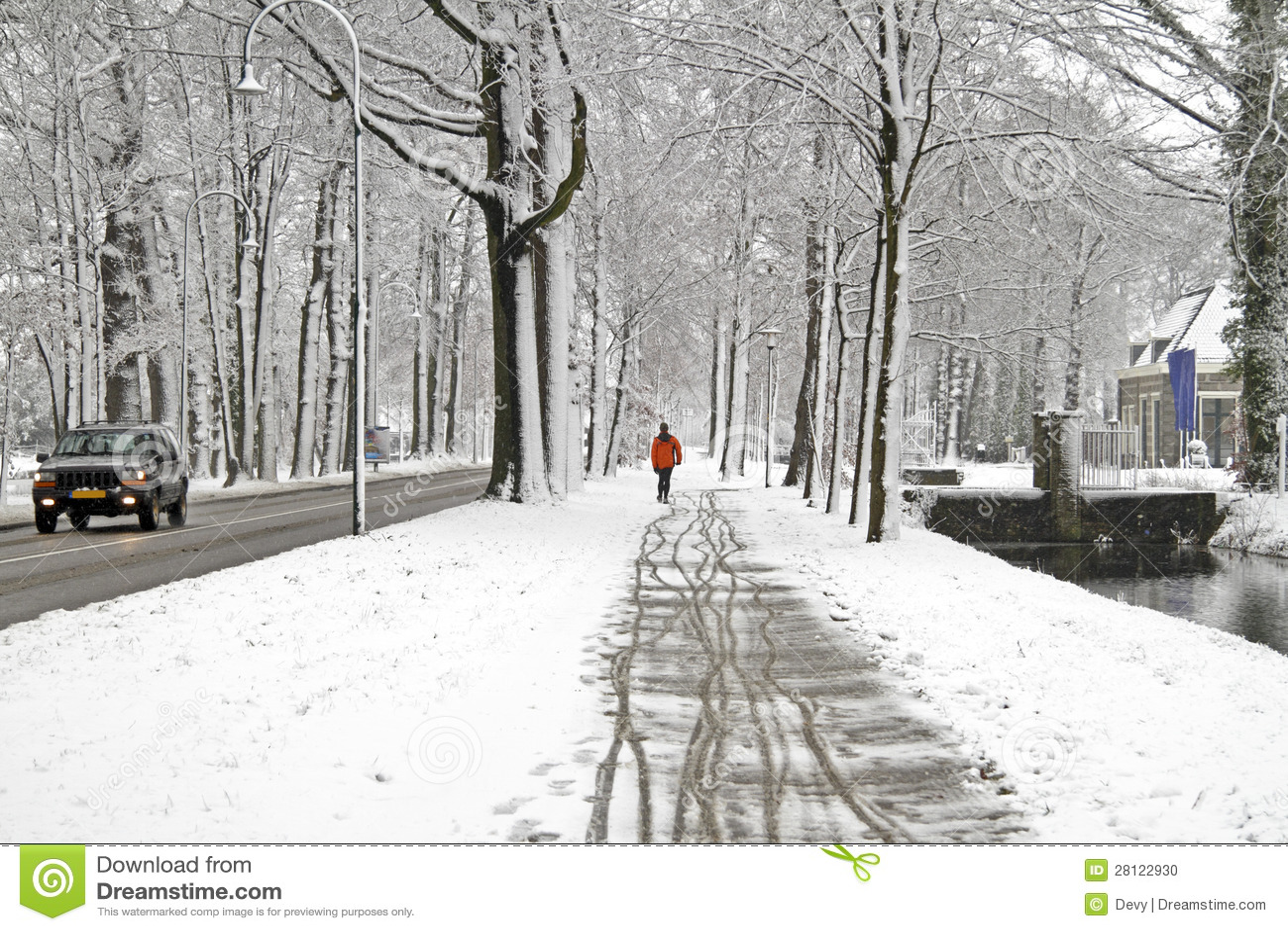 winter in the netherlands stock photo image of walking. Black Bedroom Furniture Sets. Home Design Ideas
