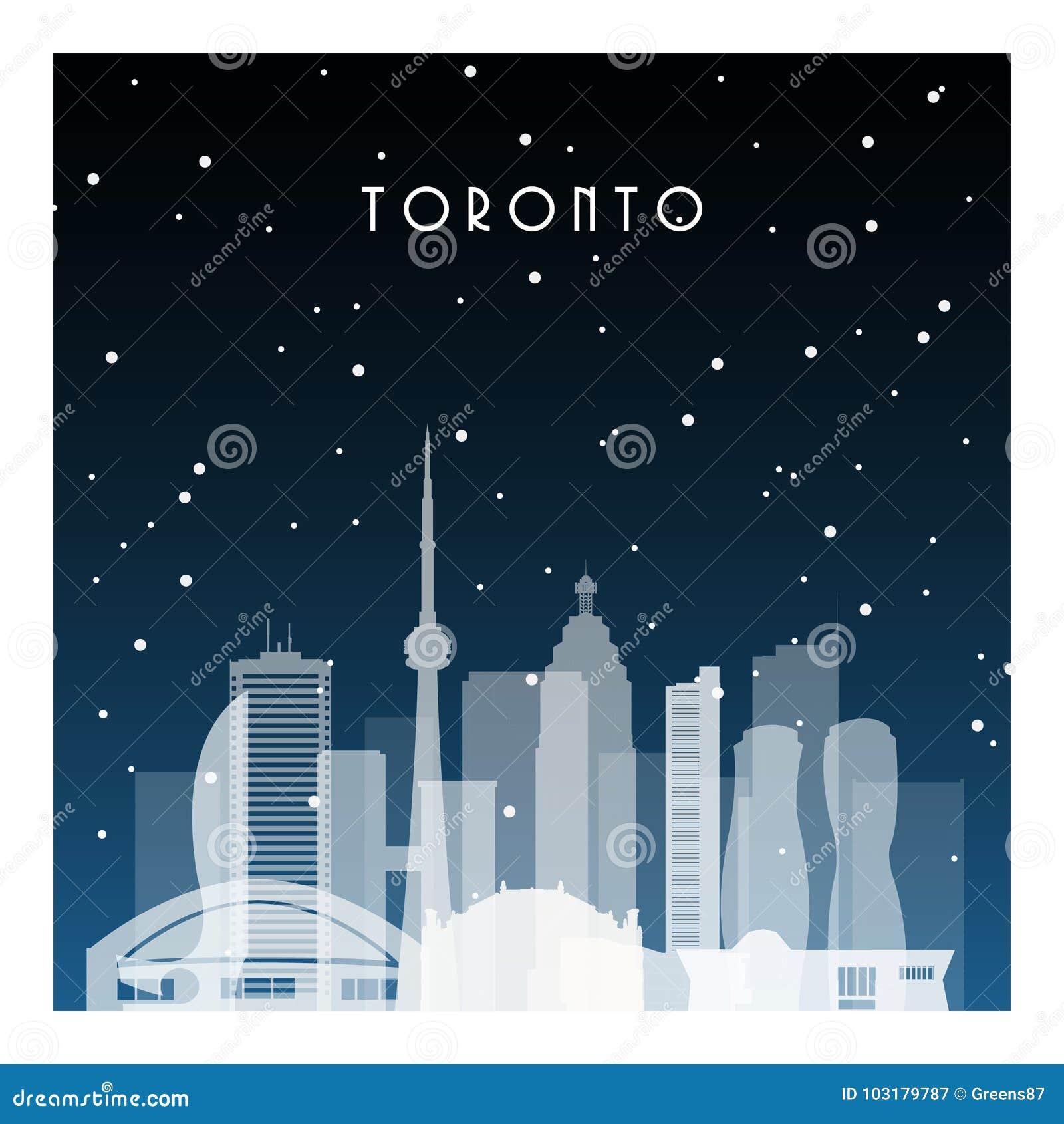 Winter night in Toronto.