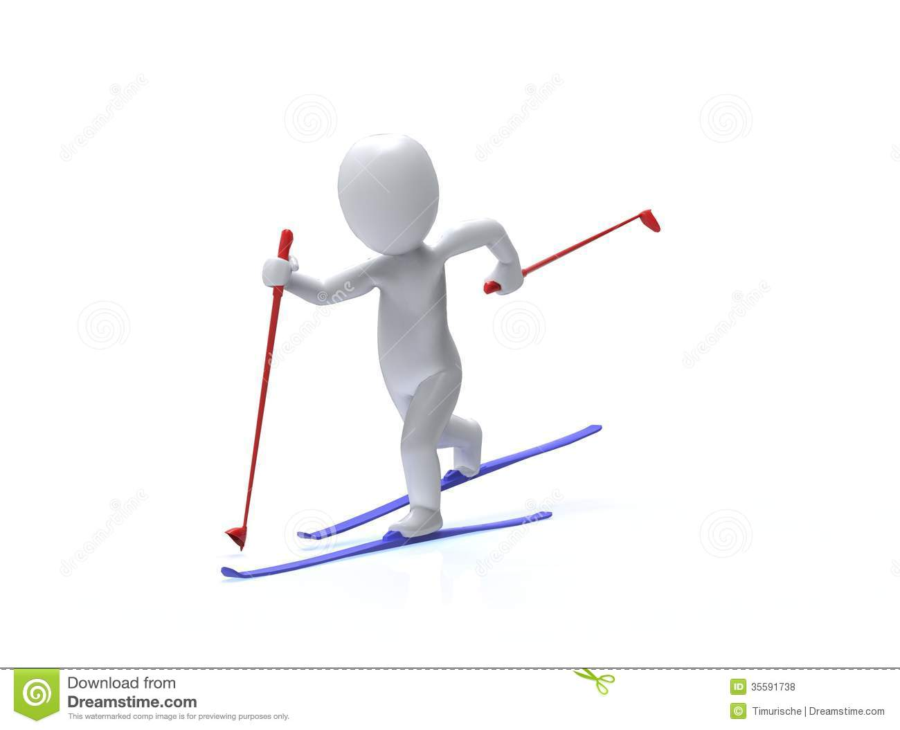 winter olympic games ski 3d man is skiing royalty free free olympic clipart borders free clipart olympic rings