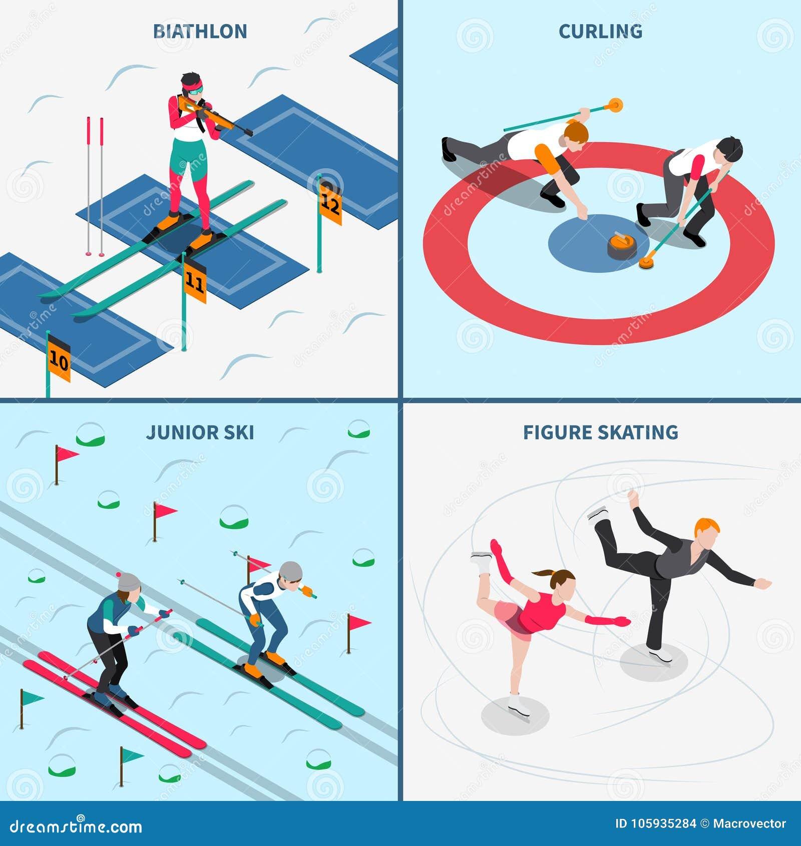 Winter Olympics-Konzept des Entwurfes