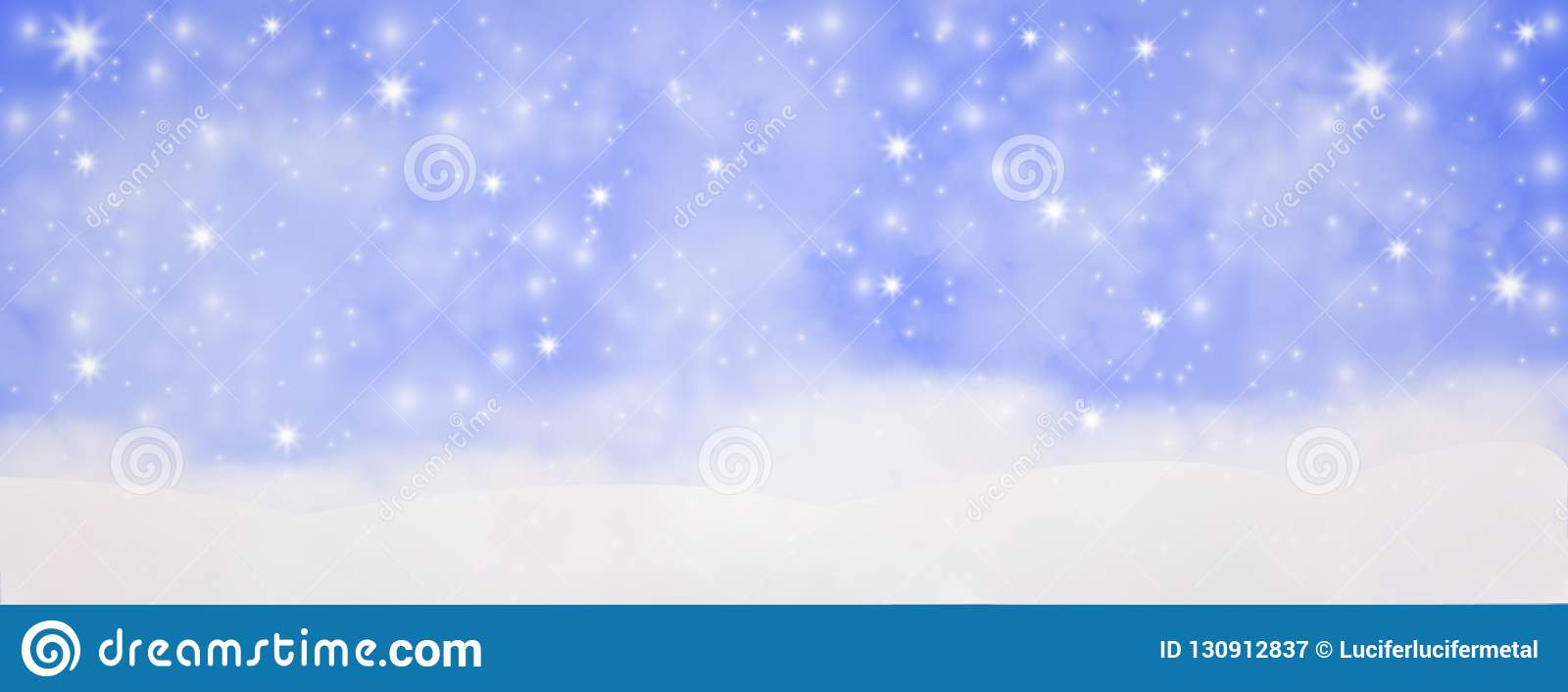 Winter outdoor with falling snowflakes, Panoramic web banner horizontal, with snow background, bokeh And glittering, Concept of c