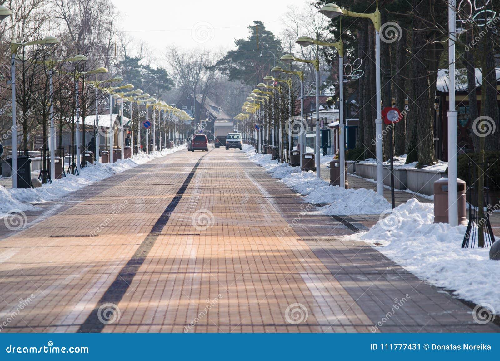 Winter in Palanga city