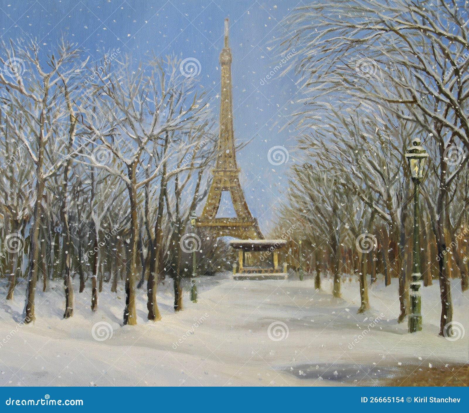 Winter in paris stock images image 26665154 - Landscaping parijs ...