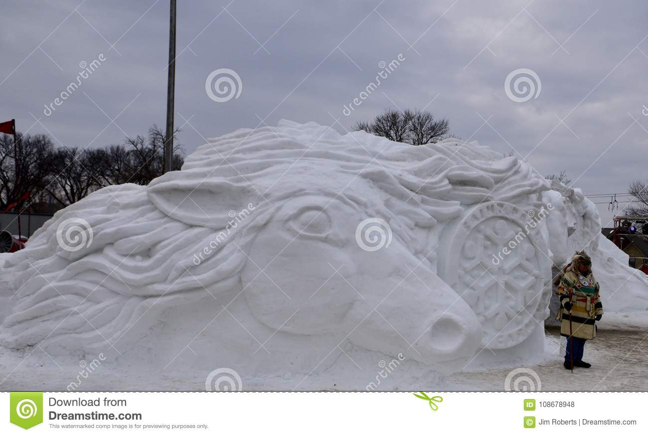 Snow Sculptures Editorial Stock Photo Image Of Located 108678948