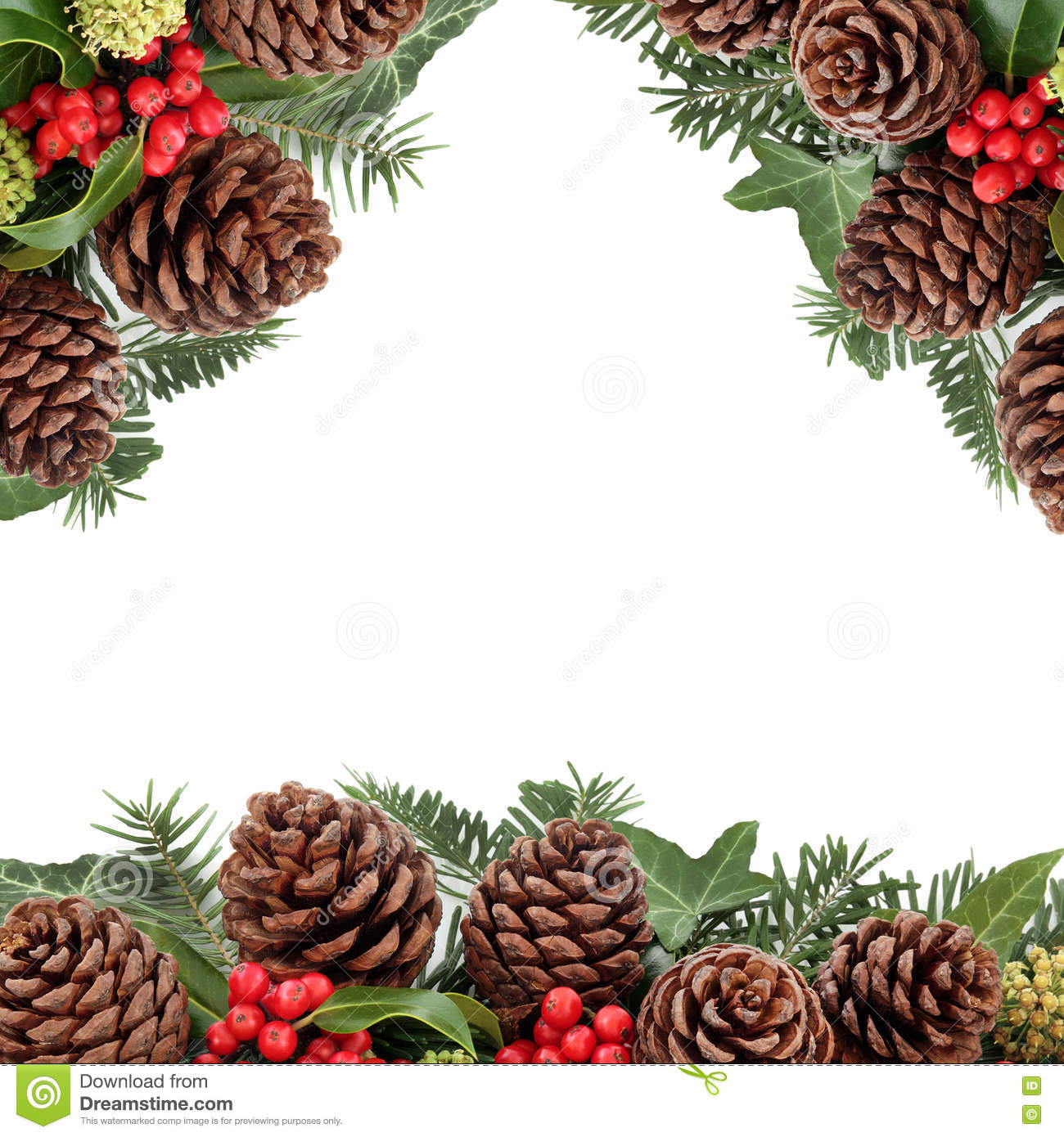 Christmas floral border stock photos freeimages com - Royalty Free Stock Photo
