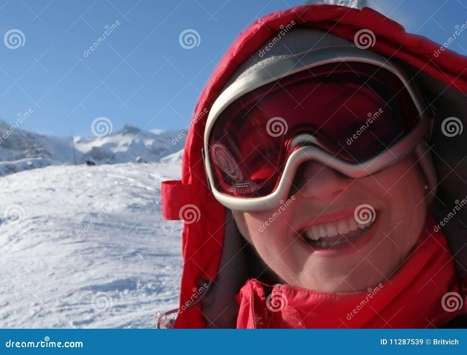 Winter portait of skier