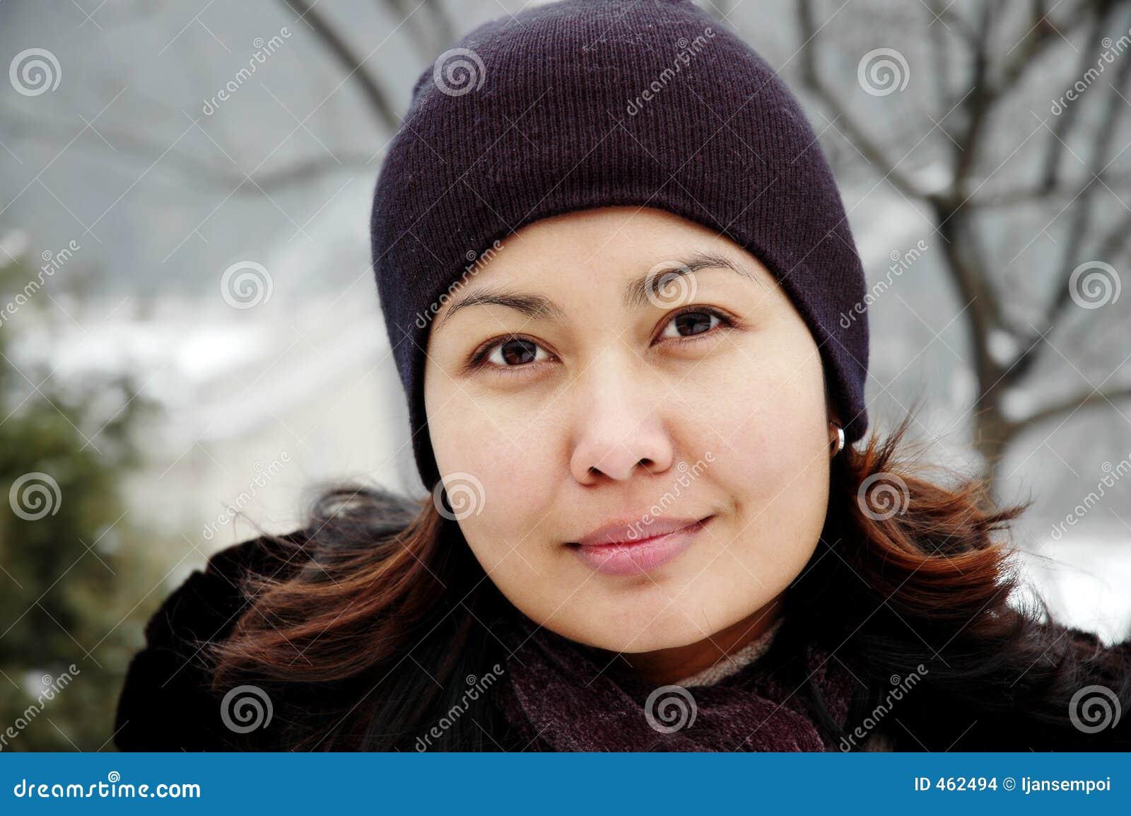 Download Winter portrait stock photo. Image of dress, asian, jacket - 462494