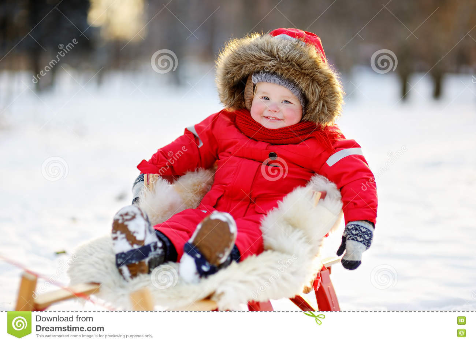Winter portrait of toddler