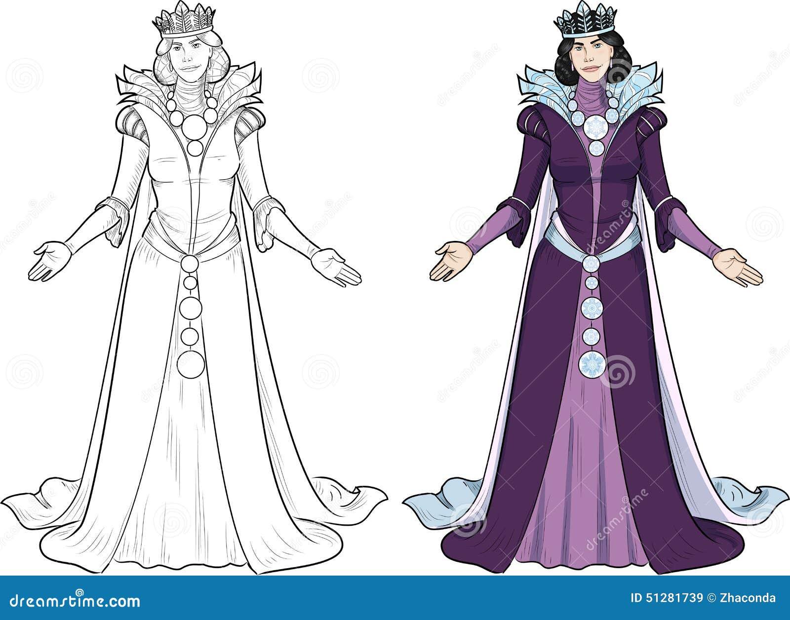 Winter Queen Beautiful Female Character Stock Vector