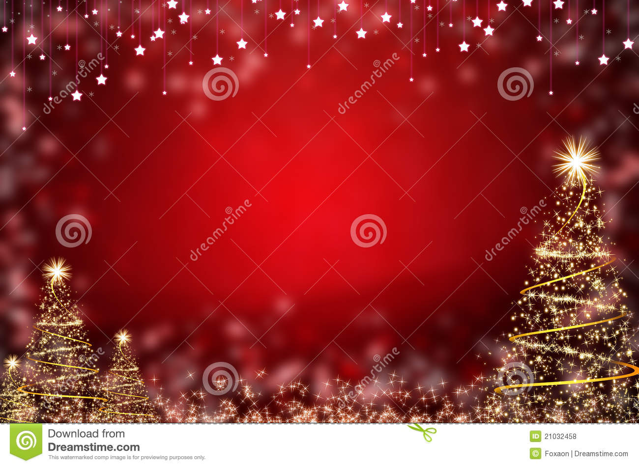 winter red christmas tree background stock illustration
