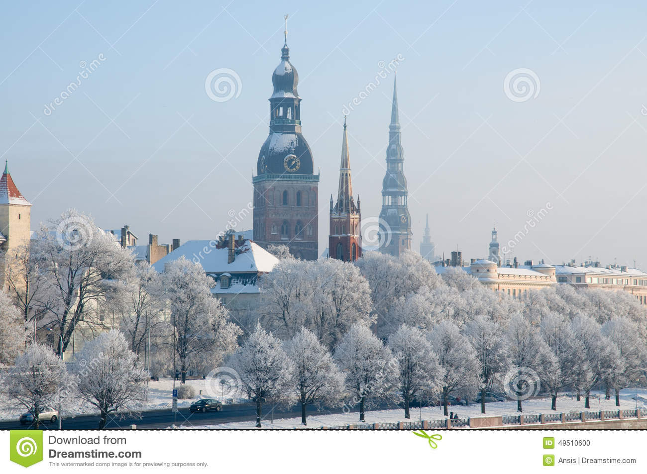 Winter In Riga, Latvia. Stock Photo - Image: 49510600