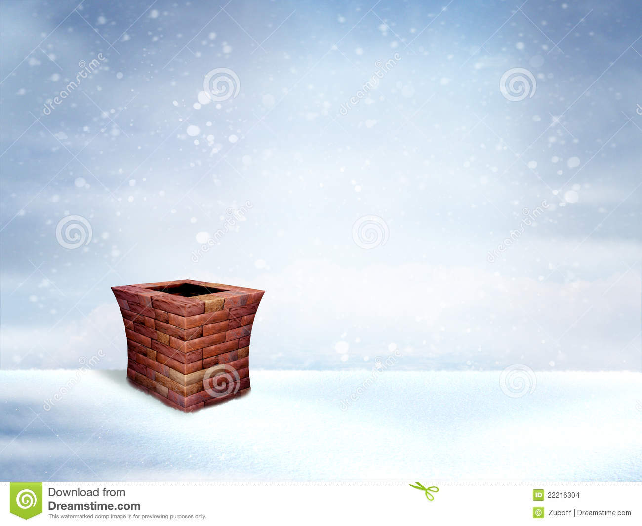 Winter Roof With Chimney Stock Images Image 22216304