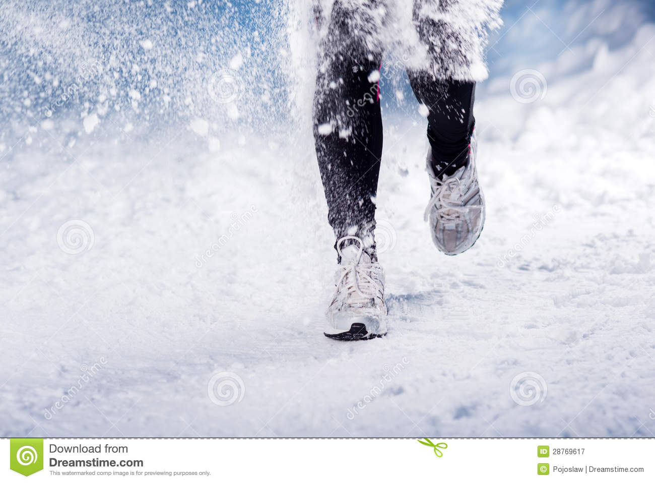 Winter Running Woman Royalty Free Stock Photography ...