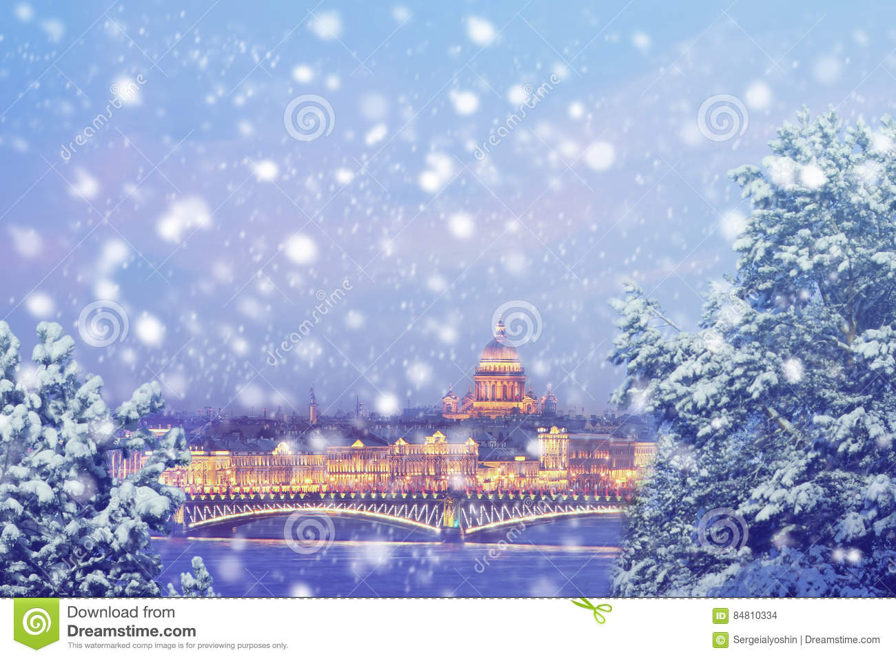 download winter in russia christmas background saint petersburg at winter evening stock photo - Russia Christmas