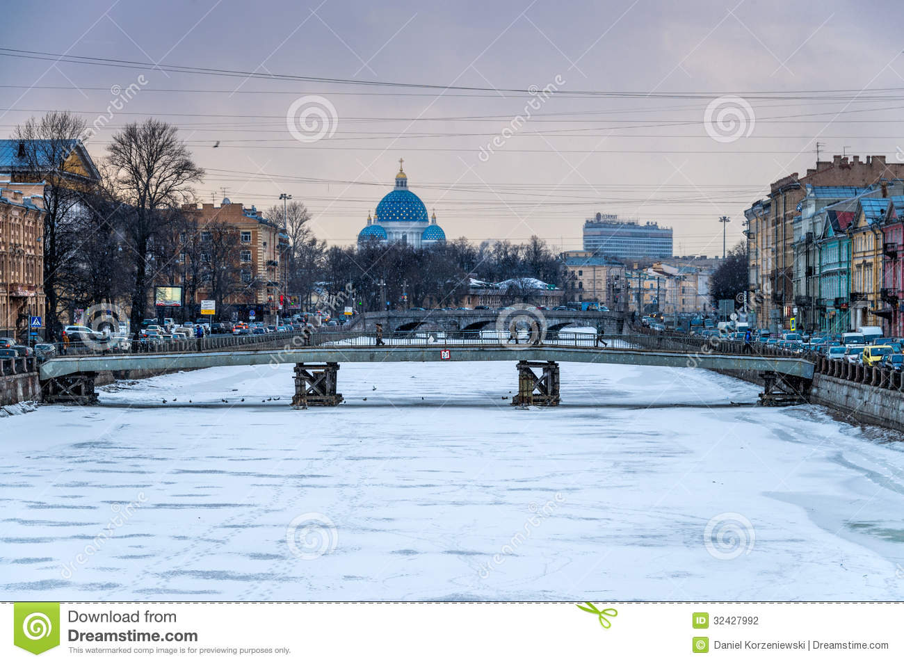 Winter in Saint Petersburg editorial photography. Image of