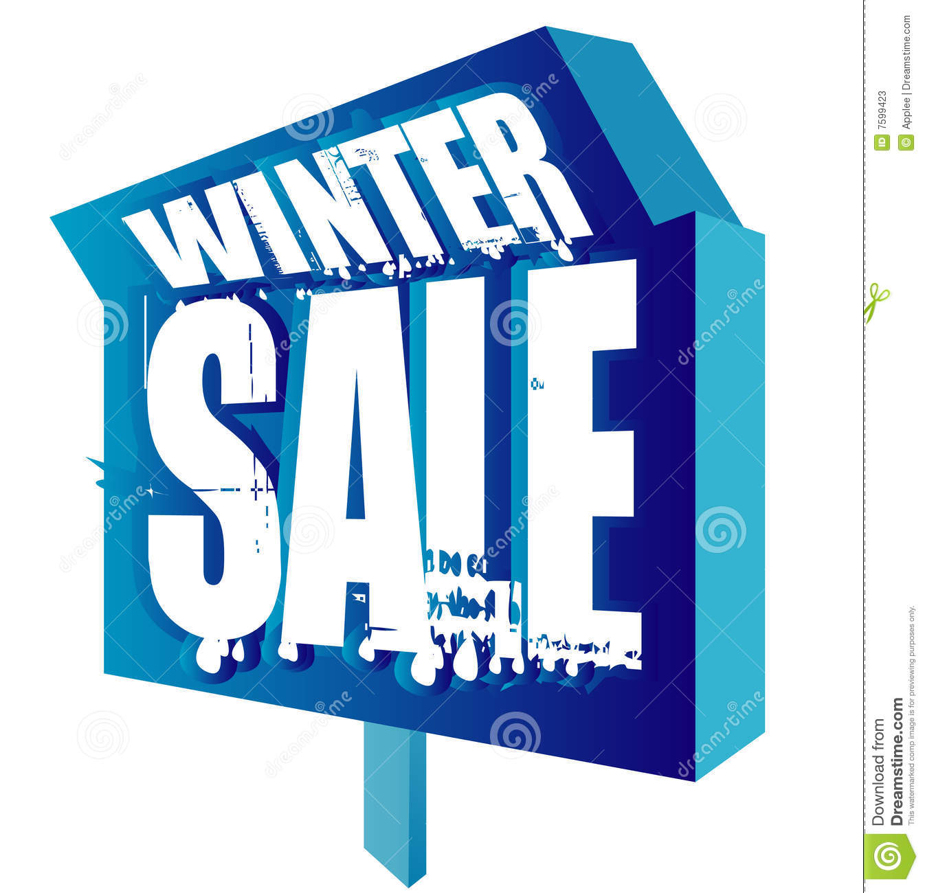 winter sale sign stock vector  illustration of background