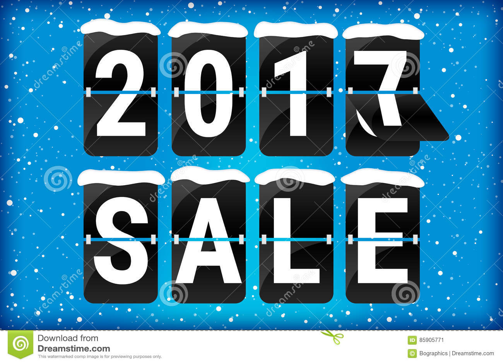 Winter sale 2017 analog flip text blue