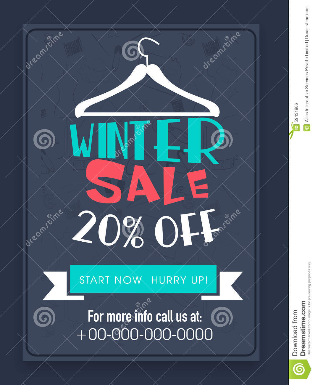 Winter Sale Flyer Or Banner. Stock Photo