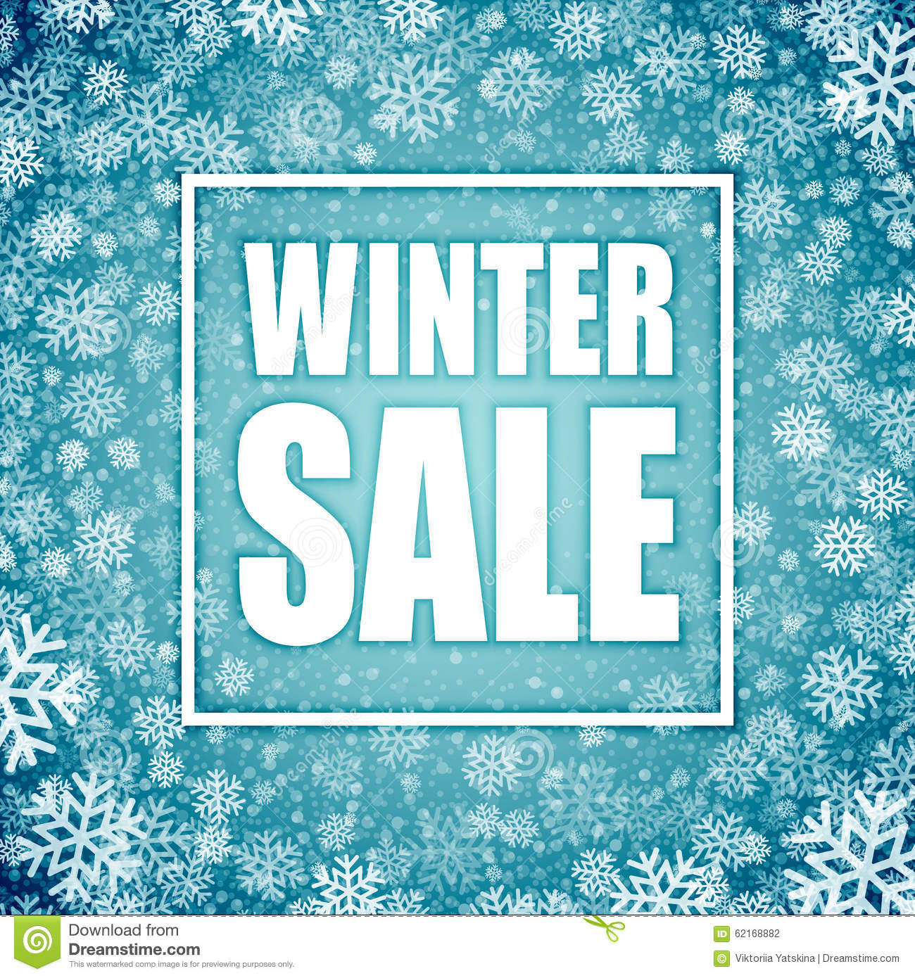 Winter Sale Inscription On Background Stock Vector Image