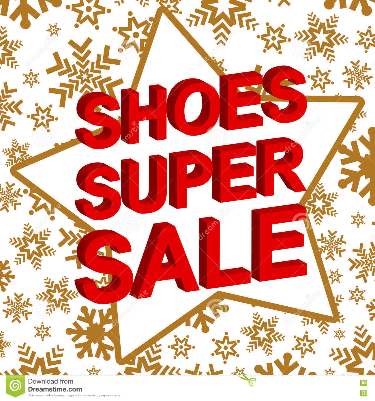 614c68419 ... Shoe Sale Banner: Winter Sale Poster With SHOES SUPER SALE Text.  Advertising