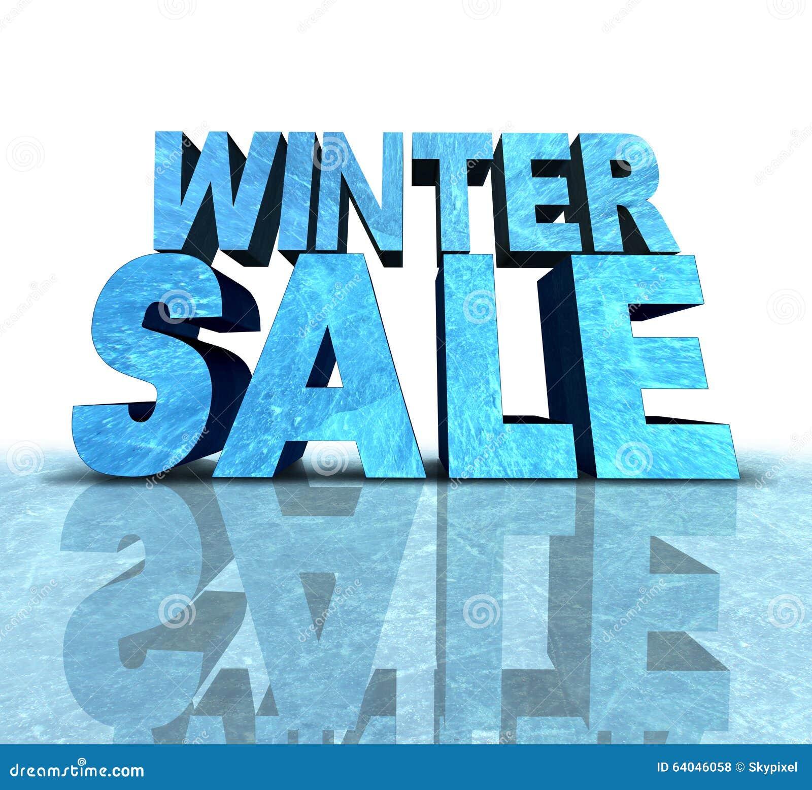 winter sale sign stock illustration