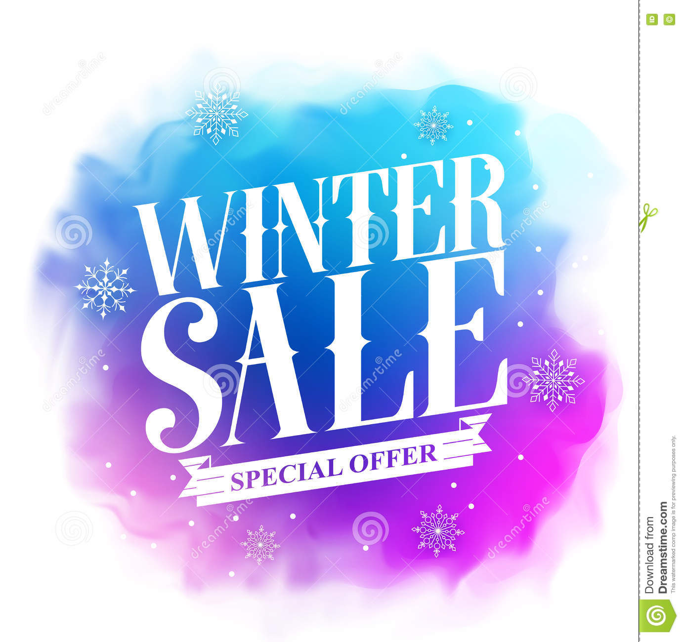 Winter Sale Special Offer Text Design For Holiday ...