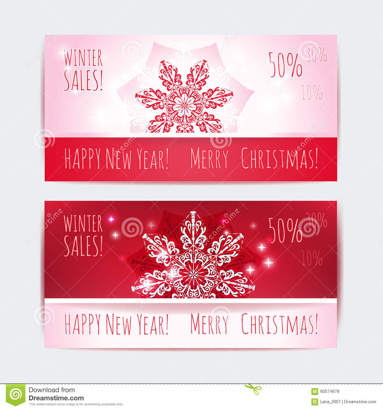 vector new year web design banner templates set