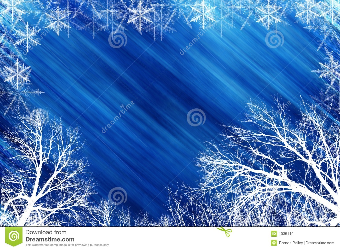 winter scene with blue backround royalty free stock images