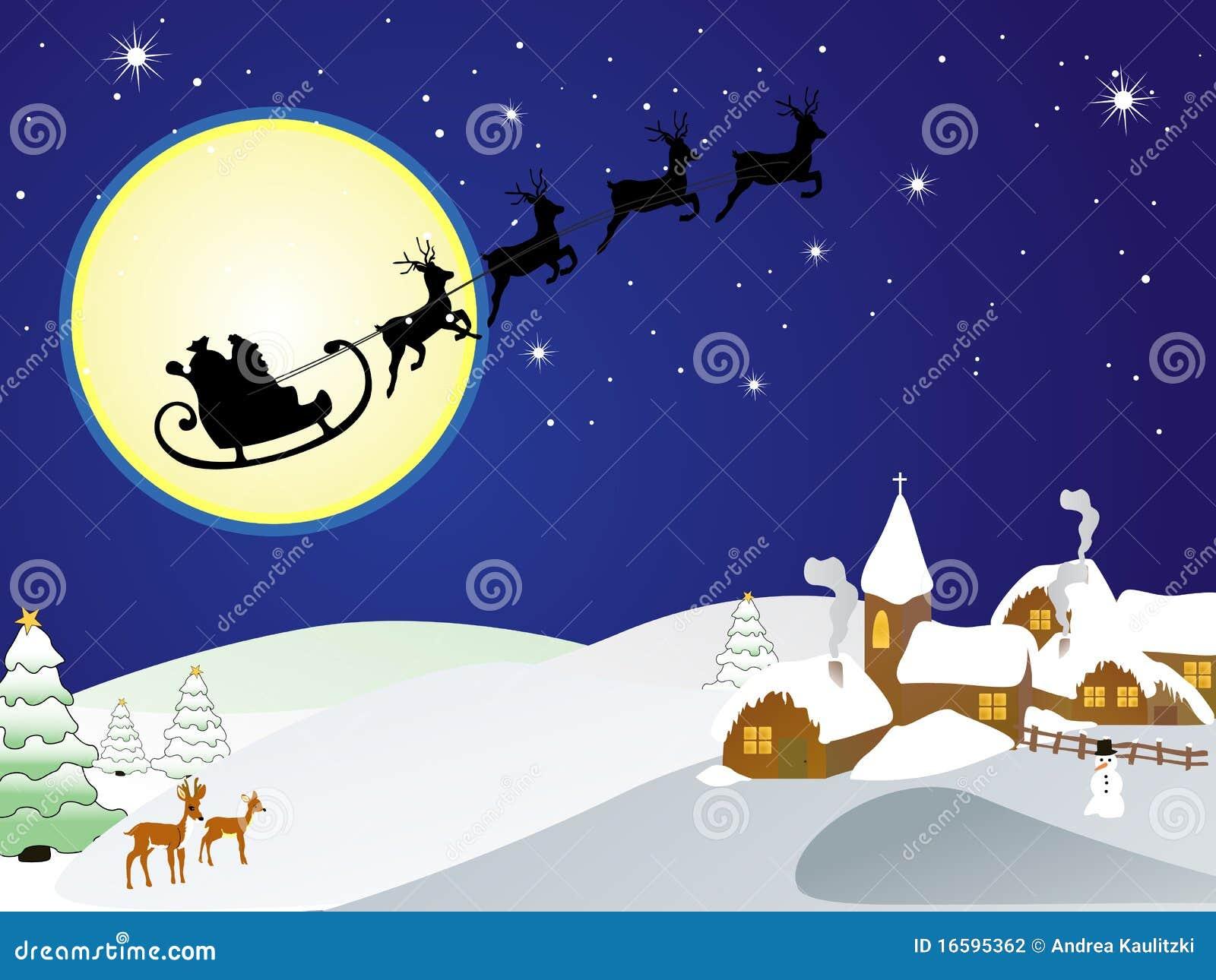 Winter Scene - Christmas Card Stock Vector - Illustration of graphic ...