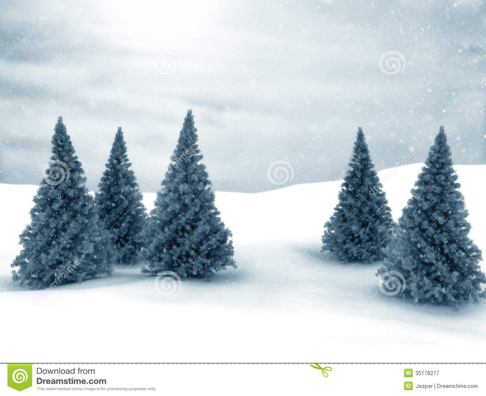 winter scene stock illustration illustration of snowstorm 35178277