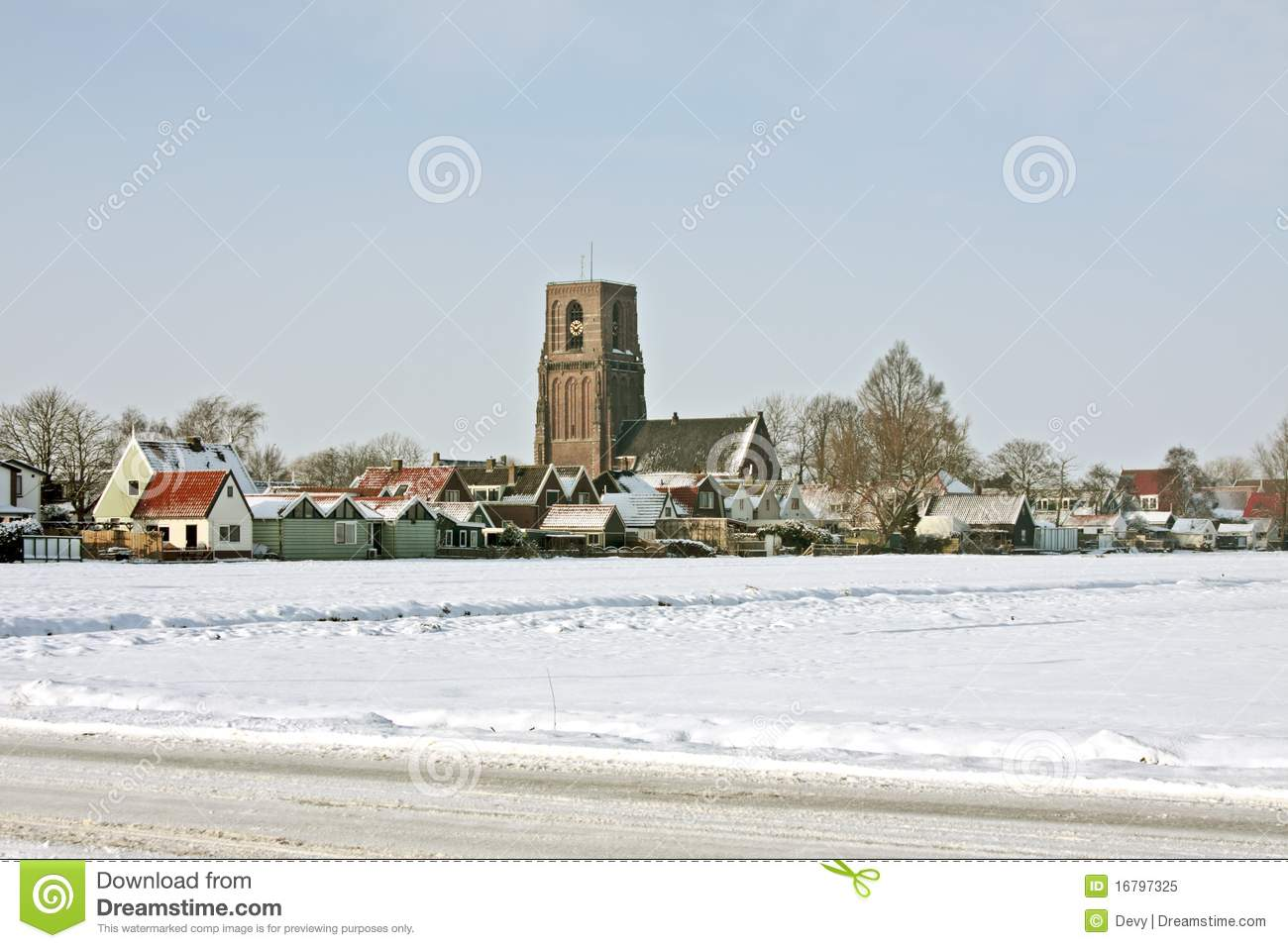 winter scenery in the netherlands royalty free stock photo. Black Bedroom Furniture Sets. Home Design Ideas