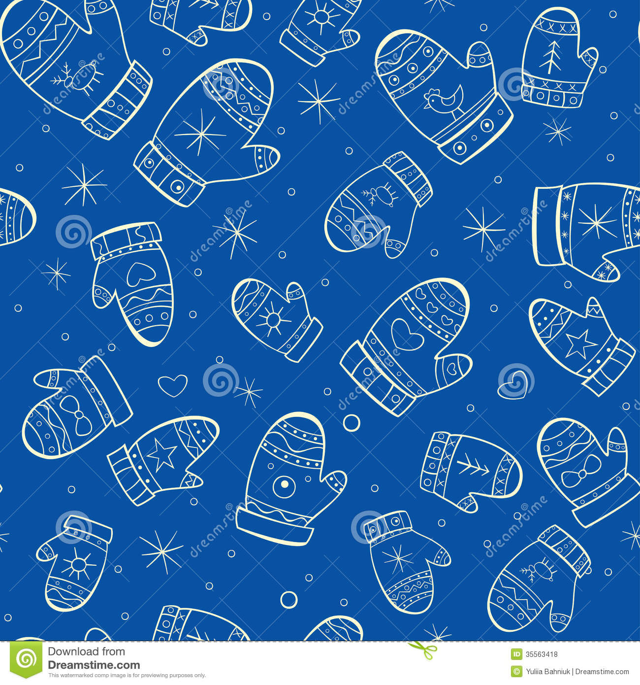 Winter Pattern Background winter seamless pattern with mittens on blue ...