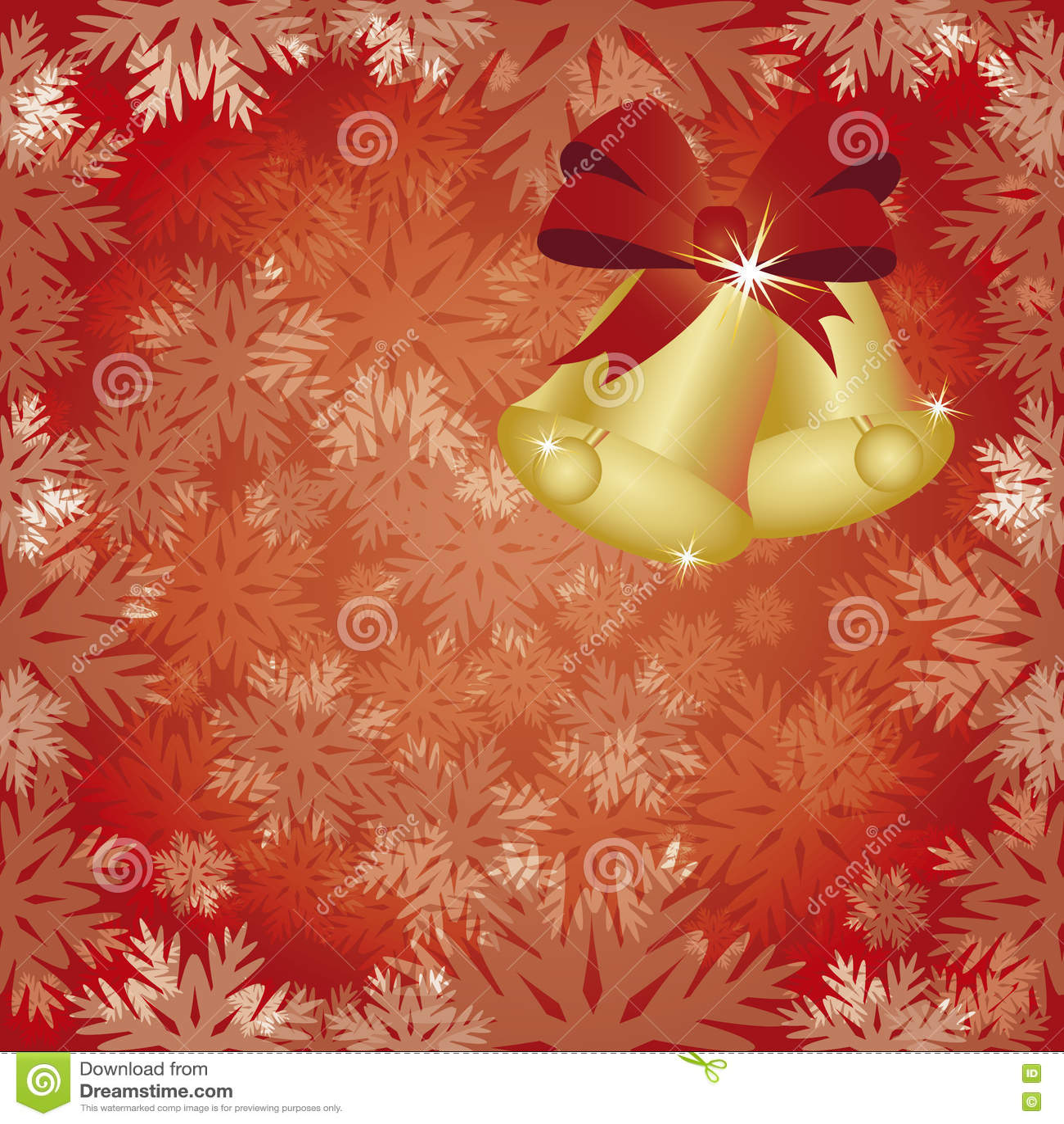 Winter Seamless Wallpaper With Xmas Bells Stock Vector