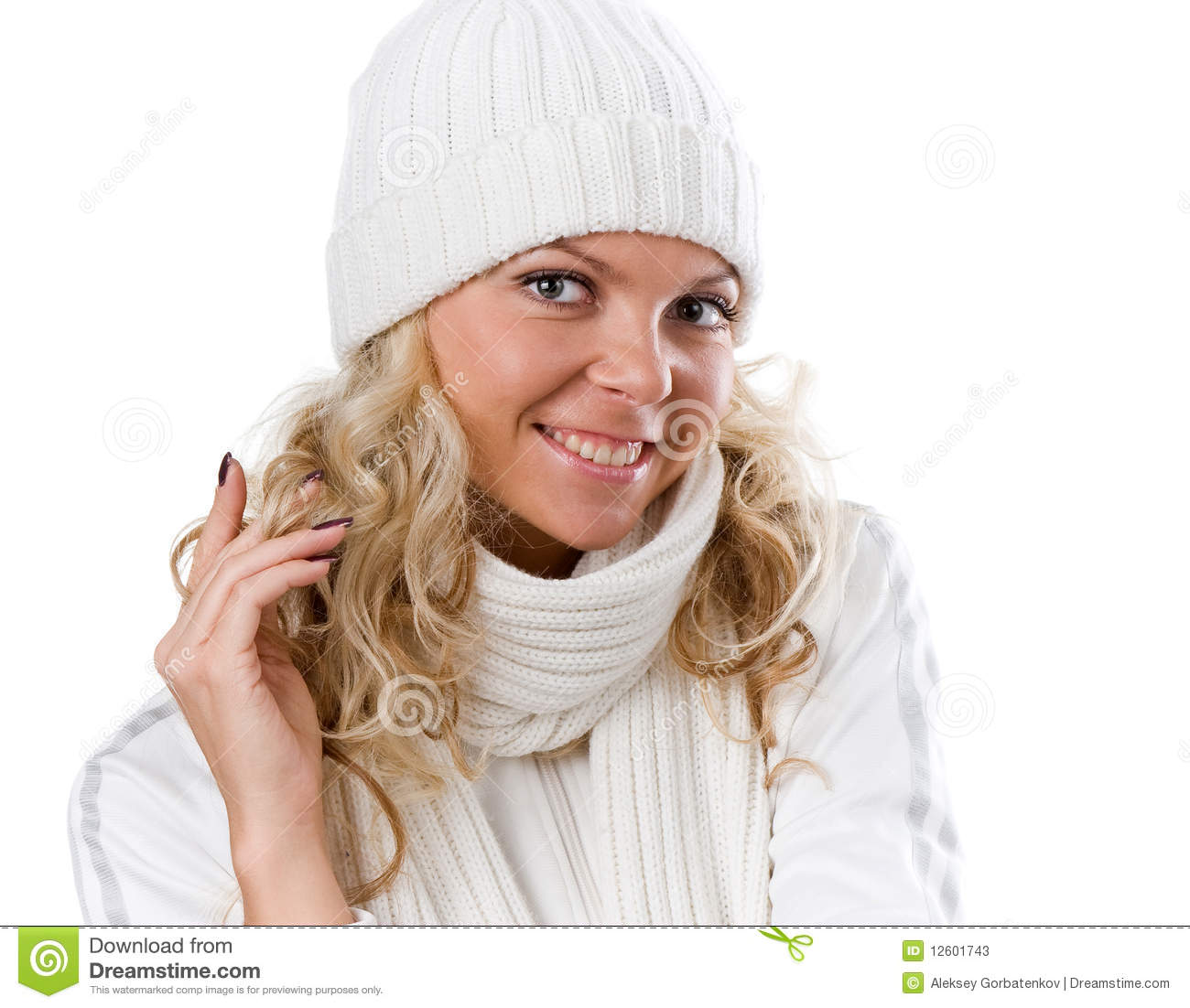 Winter Beautiful Girl In White Hat Stock Image - Image of female ... 6893932c1ddb